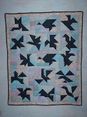 Wallboard birds tangram.