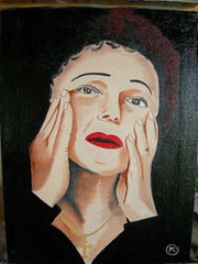 Portrait of Edith Piaf.