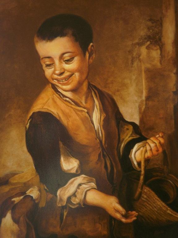 Boy with dog (copy). Sebastian Martin Cnstanza Sebas