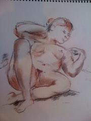 Étude sur le nue féminin.