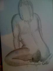 Étude nue féminin.