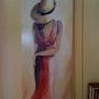 Frau mit Hut. Daniel Ernie