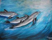 Duaphins auf See.