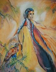 Indian Princess in seiner ganzen Pracht. Anne-Marie Landron