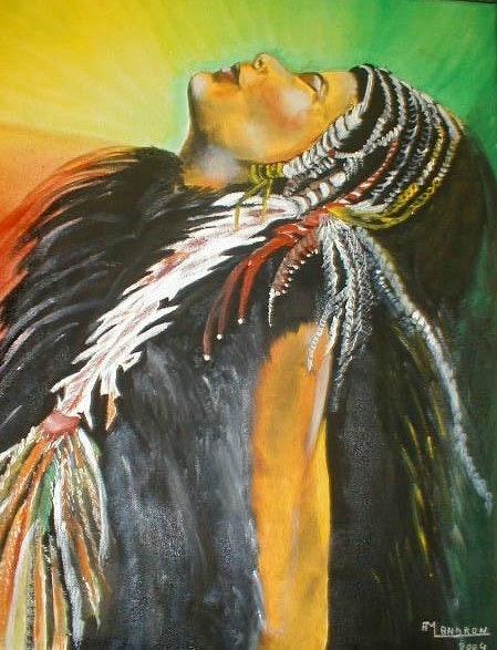 Porträt der indischen Götter, die ein Land benötigt…. Moi Méme Anne-Marie Landron