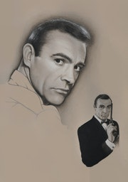 A young Sean Connery - The iconic, best-loved face of Bond… James Bond!. Mugshots By Muggins