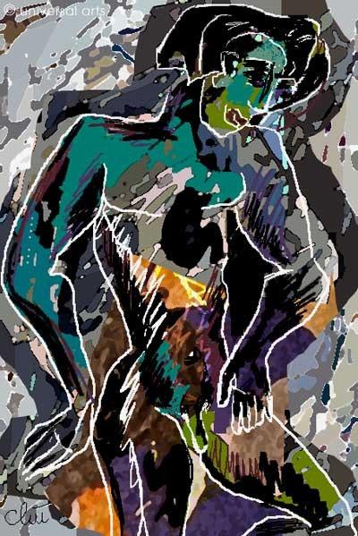 Adonis - limitée graphique originale - Jacqueline_Ditt. Jacqueline Ditt Universal Arts Galerie Studio Gmbh