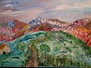 Landscape of Provence in Spring.