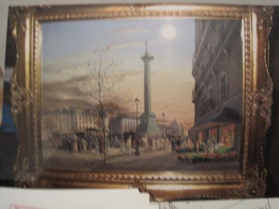 La place de la bastille paris. Godinnet Léon Raymond.Pizard@Wanadoo.F Pizard