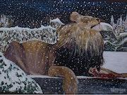 El cambio climático? (Un león sorprendido).