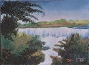 Peinture les chutes d iguassou (côté argentine).