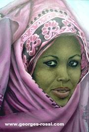 El etíope… Acrílico sobre tela…. Georges Rossi