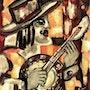 Banjo - original painting - Jacqueline_Ditt. Universal Arts Galerie Studio Gmbh