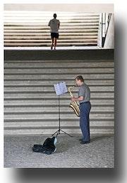 Sax player Paris.