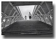 On the bridge… Paris.