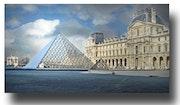Paris Louvre Pyramid.
