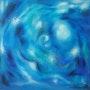 Symphonie de bleus. Acrylique sur toile.. Jean-Louis Halley
