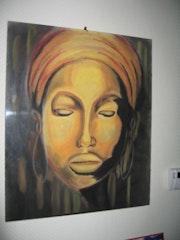 Masque africain pastel. Fabienne Poutignat
