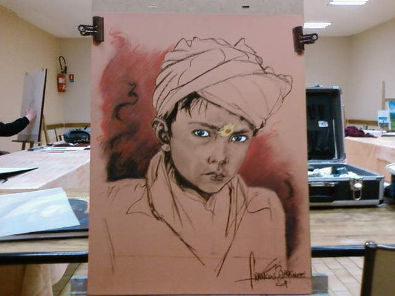 Young Afghan.  Forangeart F. Baldinotti Peintre De l'air