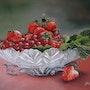Cristal y frutos rojos.