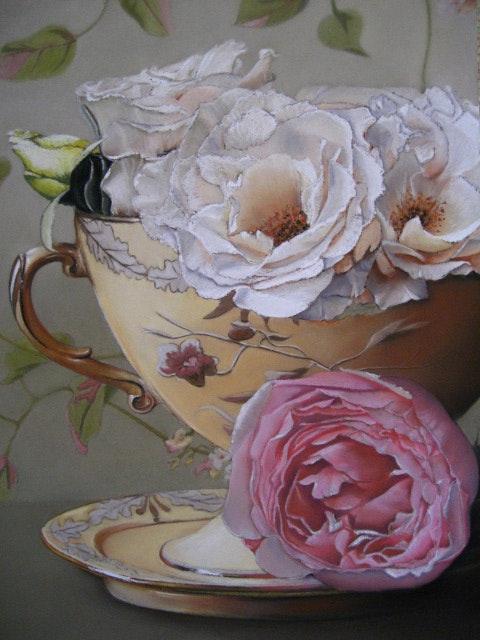 Breakfast roses. Jacqueline Hautbout Jacqueline Hautbout