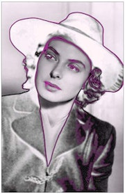 Pop Art Portrait Ingrid Bergman «Where there's gray, I put Pink. Maxbymax