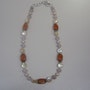 Necklace with genuine stones and pearl items. Regina Korell