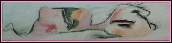 Maître nageur en rose. Anne-Soline Roy Aso