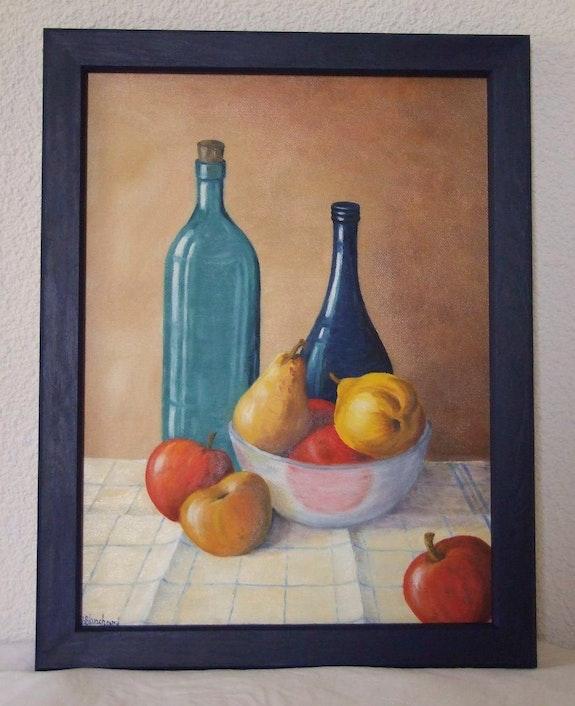 Bottles and Fruit. Andrée Blanchard Andrée Blanchard