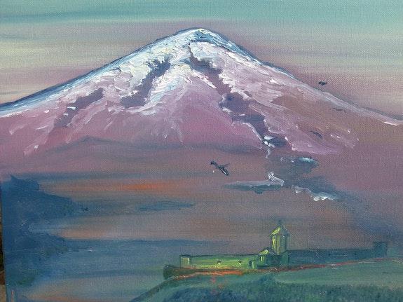Mont Ararat nocturne.  Armen