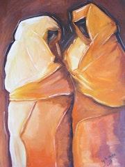 Dos mujeres con velo. Nadia Slime Ghariani