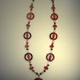 Red alert-long necklace made of red jasper, coral (red, obs. ) And…. Regina Korell