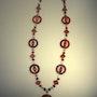 Collar de alerta roja a lo largo de jaspe rojo, coral (rojo, obs. ) Y…. Regina Korell