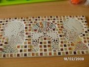 Mosaic tables . Joselyne Olivier.