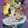 Flower Power - limitée graphique originale - Jacqueline_Ditt . Universal Arts Galerie Studio Gmbh