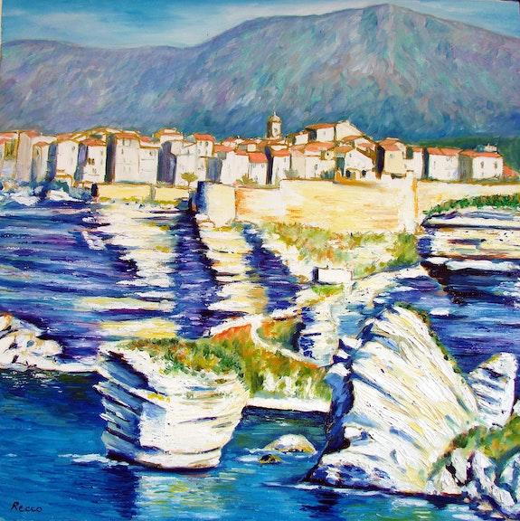Bonifacio and its cliffs . Paul-Louis Recco Paul-Louis Recco