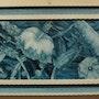 Holz, Acryl Kunst 40cmx80cm . Besnard Sylvie