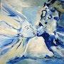 Juntos en este infinito azul . Myriam Volia