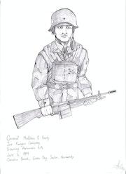 1944 amerikanische General . Jordan Morrison