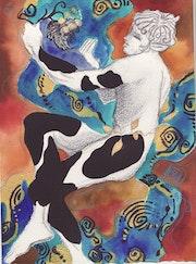 Grandes Animales de dibujo ilustración .