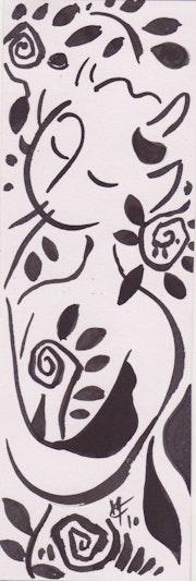 Vida Silvestre de la flauta de dibujo en tinta sobre papel .