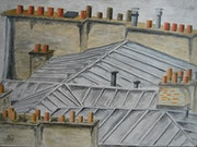 Roofs of Paris 2 .