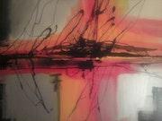 Resumen composición con formas dinámicas y los colores puros. .