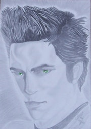 Pencil drawing of Edward Cullen - Twilight Zone - .