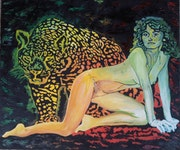 The woman and the leopard . Medigam