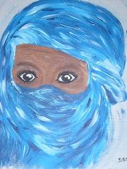 The child's blue desert .