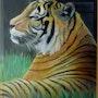 Tigre en reposo. Yvette Mandin