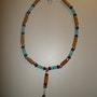 Indian River Necklace in the style of native american with real semi-precious stones . Regina Korell
