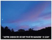 Carte Postale Originale les Couleurs du Soir by cjm*.