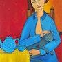 Margot et son chat. Isabelle Rigal